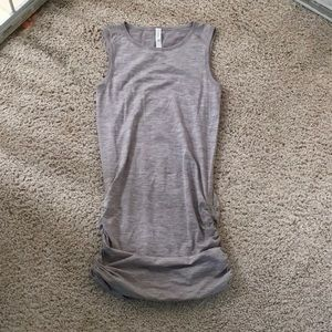 Fitted crew neck dress